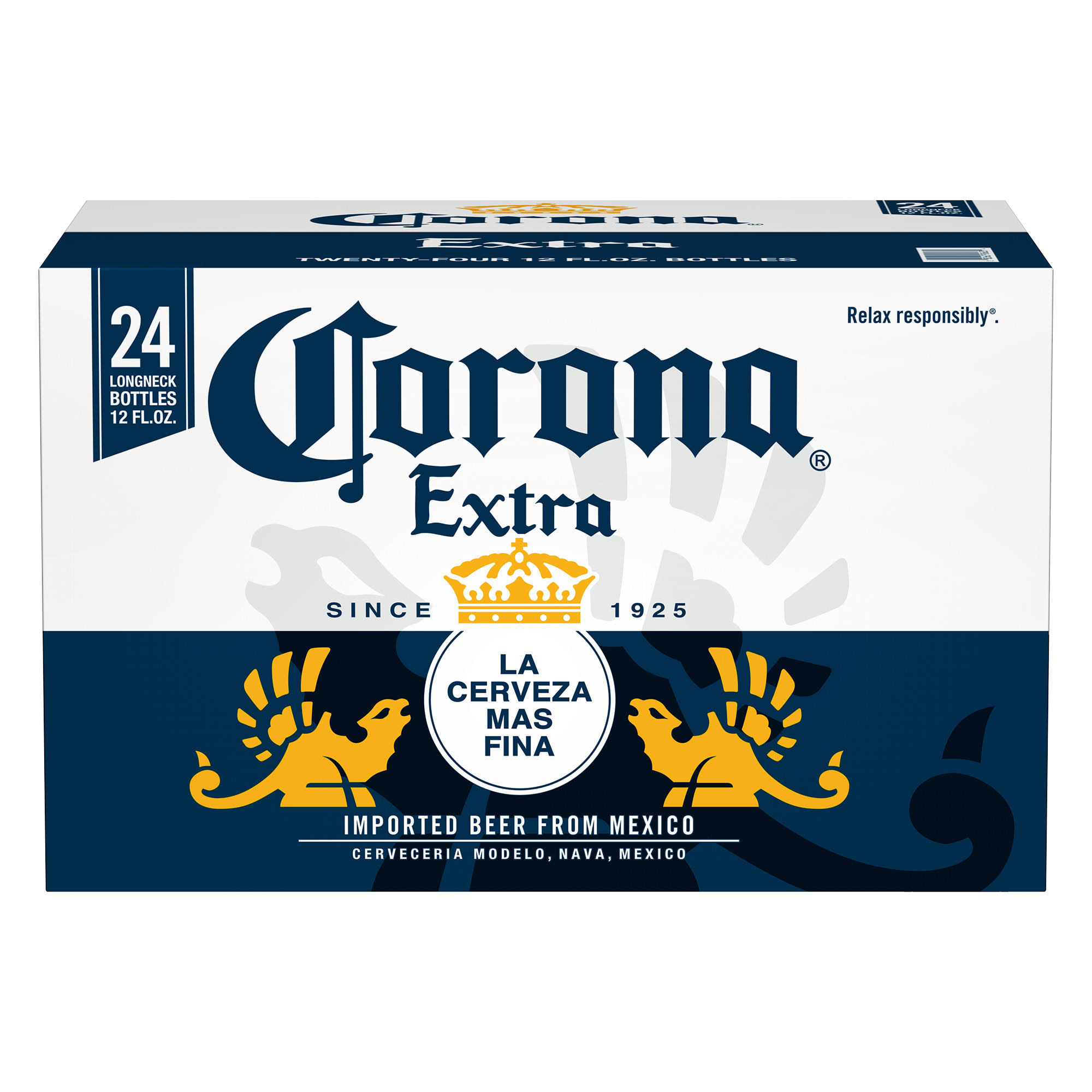 Corona Extra Beer - 12oz, 24 Pack