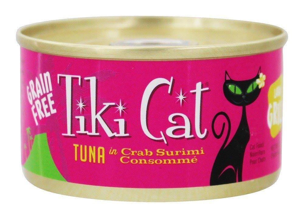 Tiki Pet Grill Canned Cat Food Lanai Tuna Crab 2.8oz