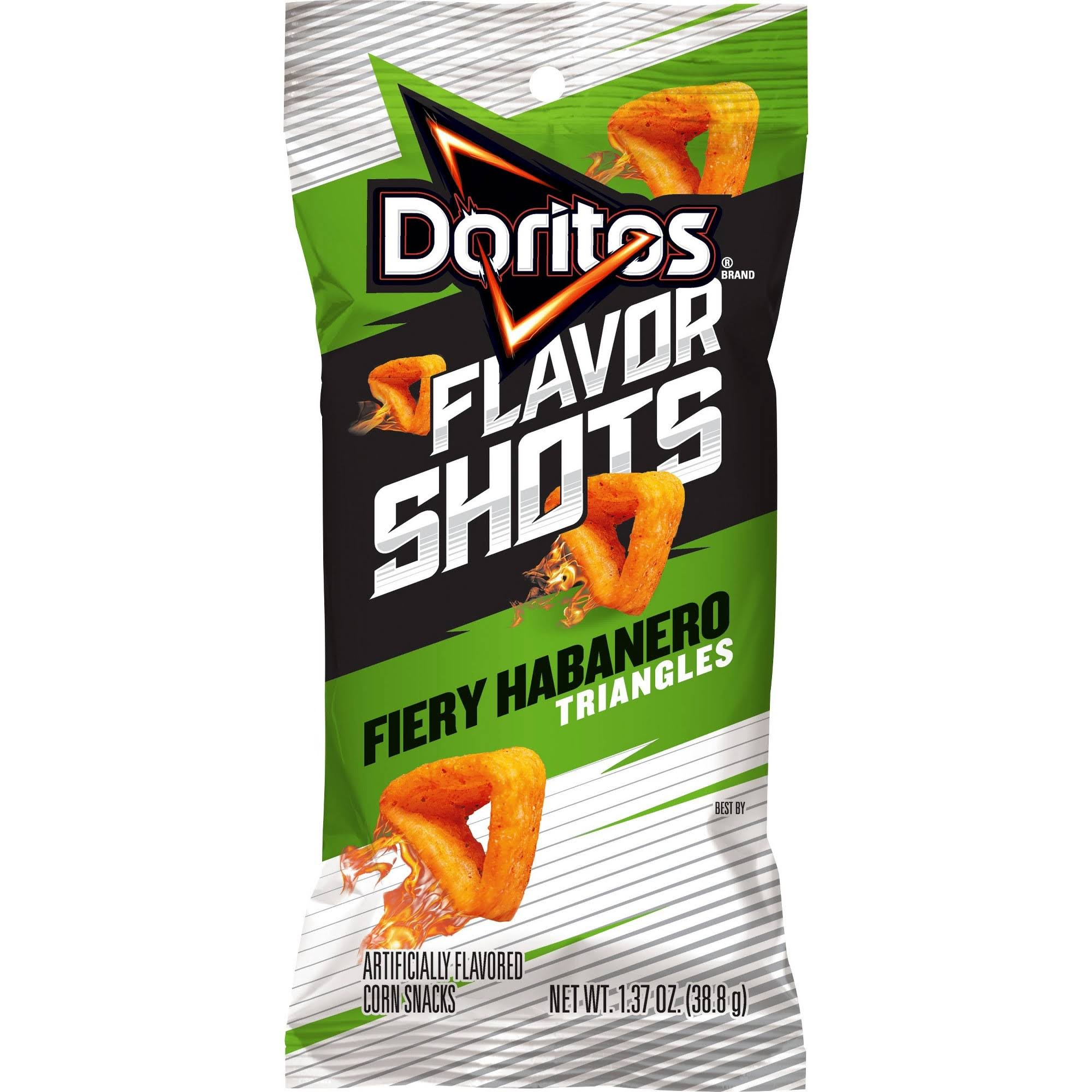 Doritos Flavor Shots Fiery Habanero Triangles Corn Snacks - 38.8g