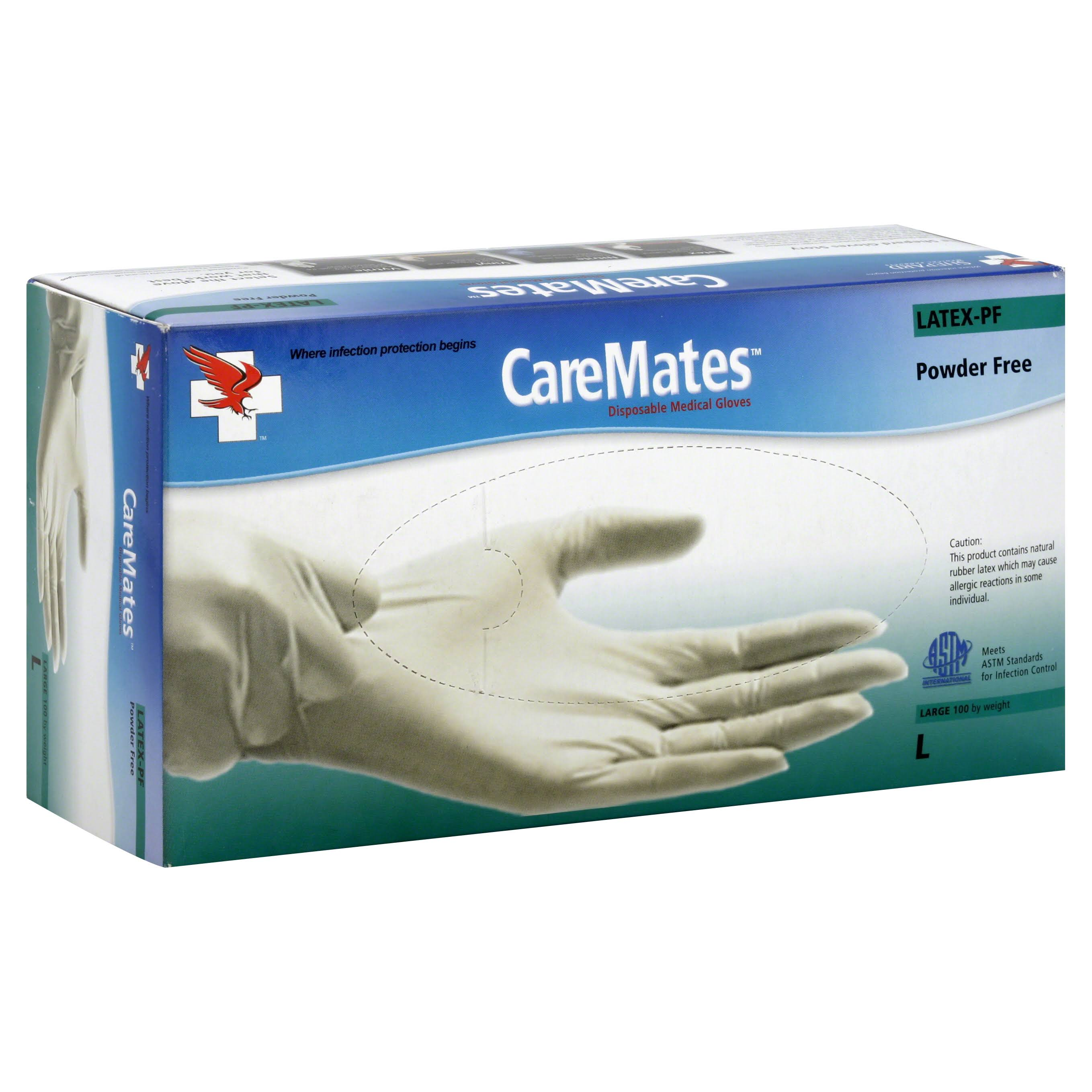 CareMates Latex-PF Examination Gloves - 100 ct