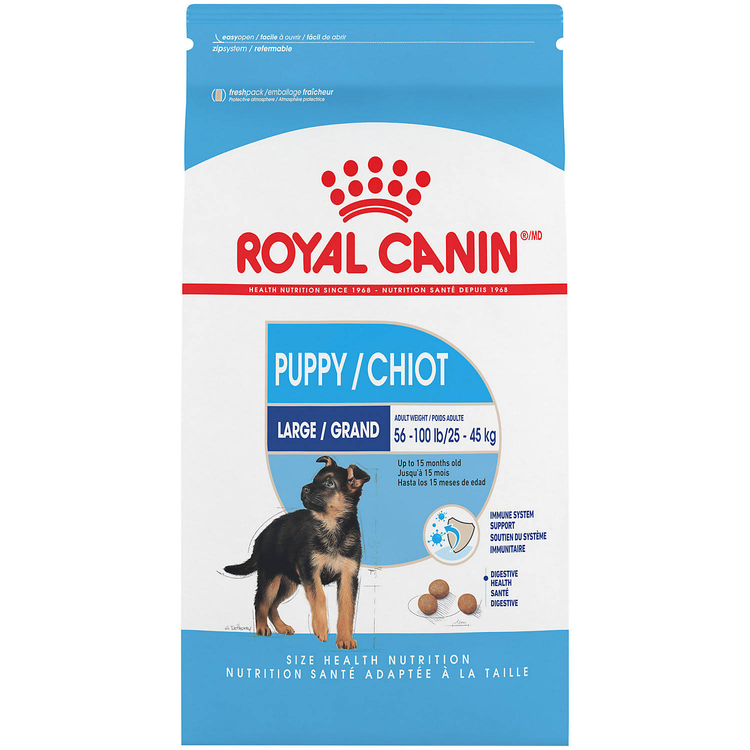 Royal Canin Size Health Nutrition Large Puppy Dry Dog Food, 18-Pound