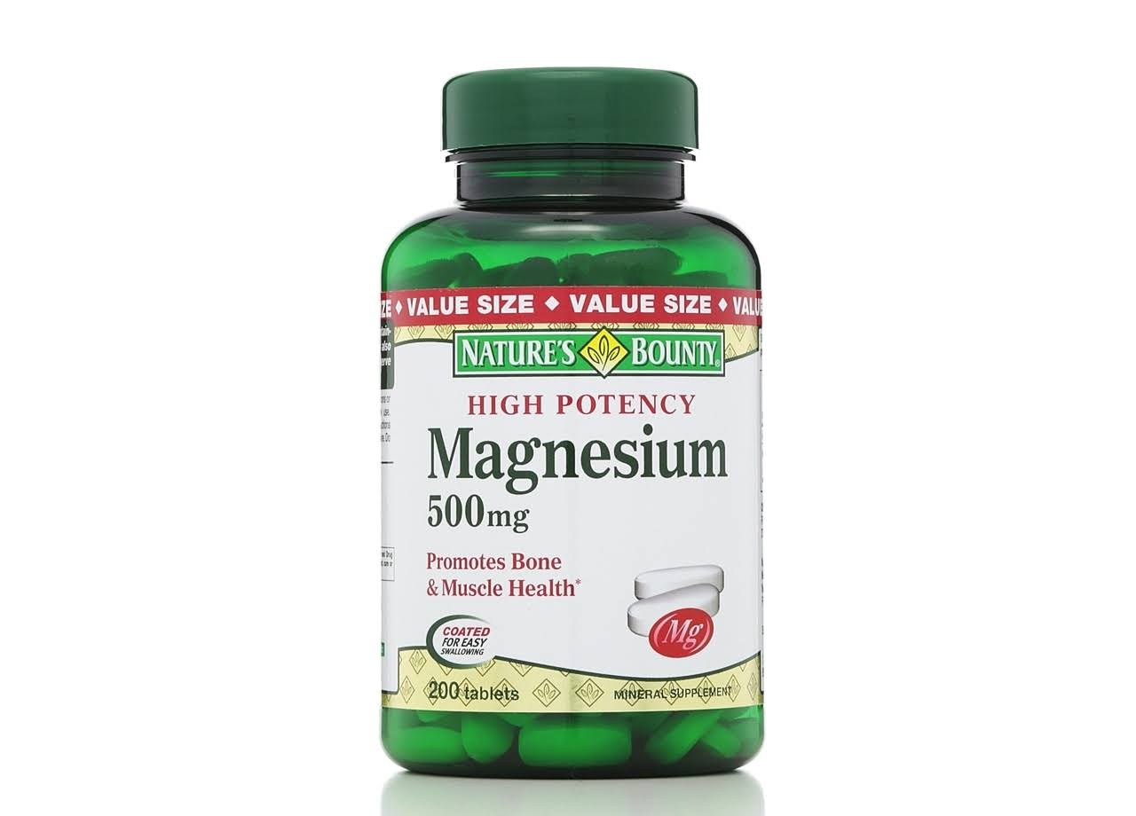 Nature's Bounty, Magnesium - 500mg, 200 Tablets