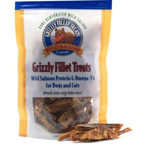 Grizzly Fillets Treats for Dogs and Cats - Salmon, 3oz