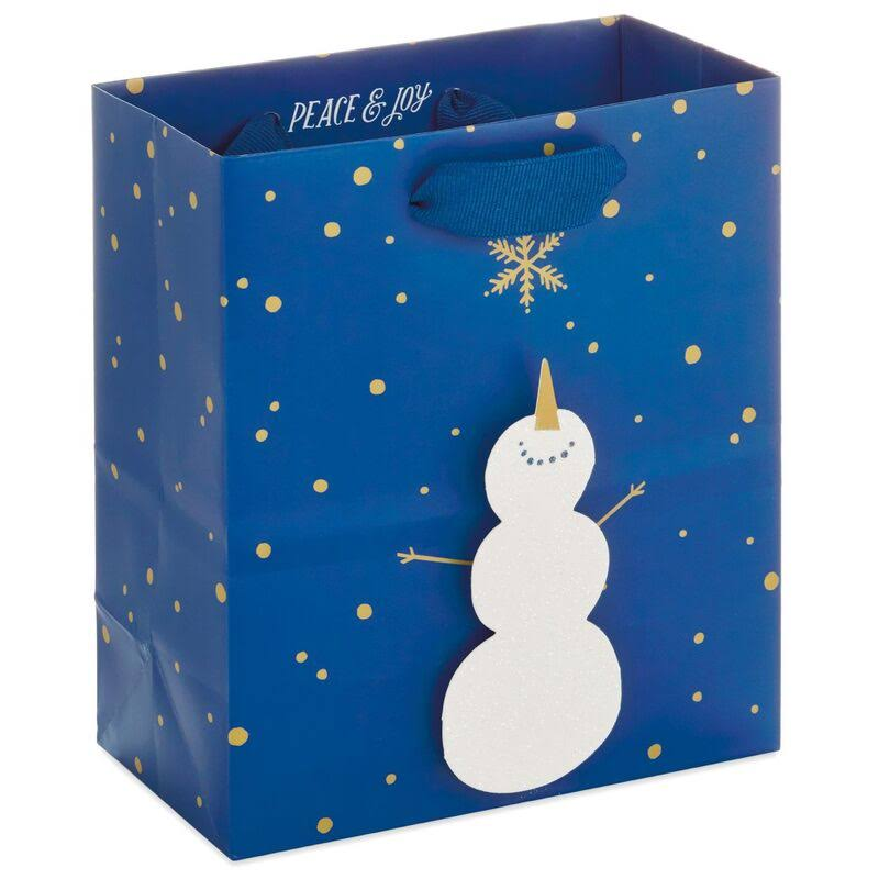 "6"" Smiling Snowman Gift Bag"