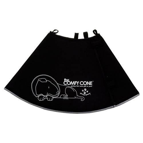 All Four Paws Comfy Cone Pet Collar - X-Small, Black