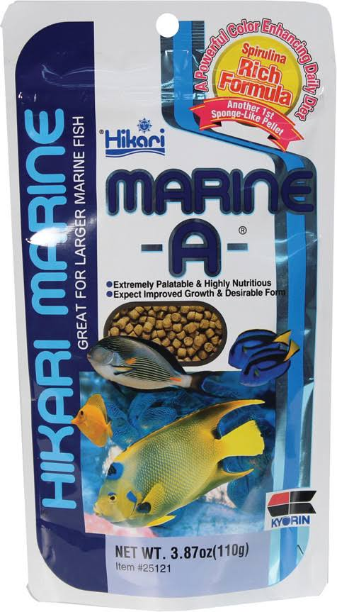 Hikari Marine A Saltwater Aquarium Fish Food Pellets - 110g