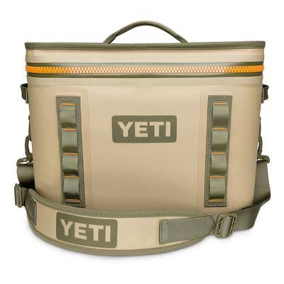 Yeti Hopper Flip 18 Cooler Bag - Tan and Orange