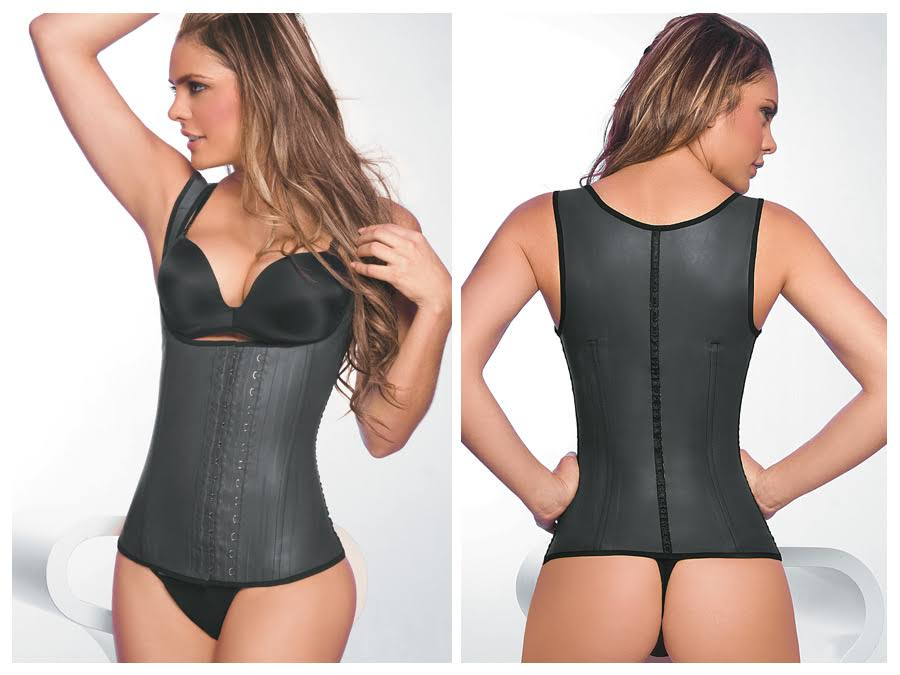 Ann Chery Womens Latex Girdle Body Shaper - Black, 3XLarge