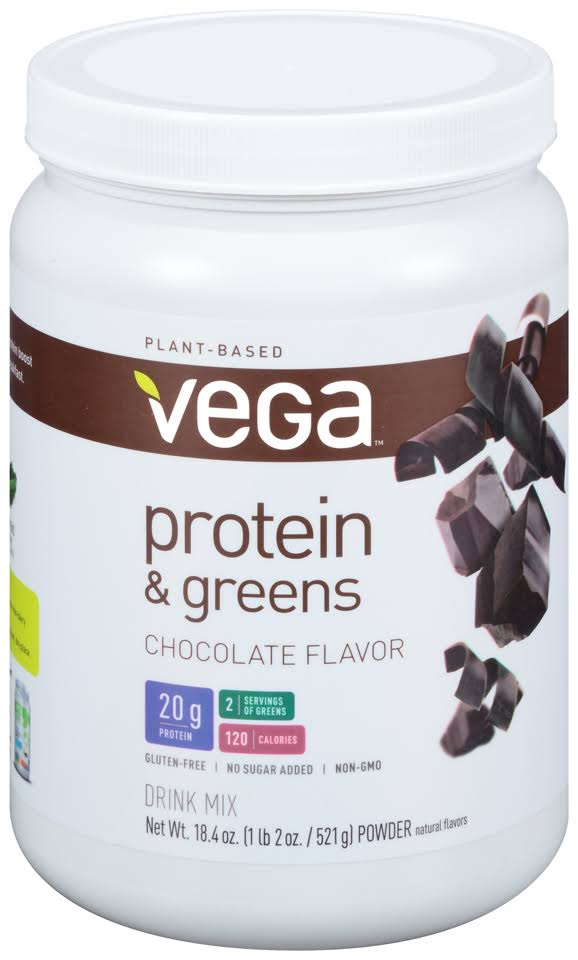Vega Protein and Greens Protein Powder - Chocolate, 18.4oz