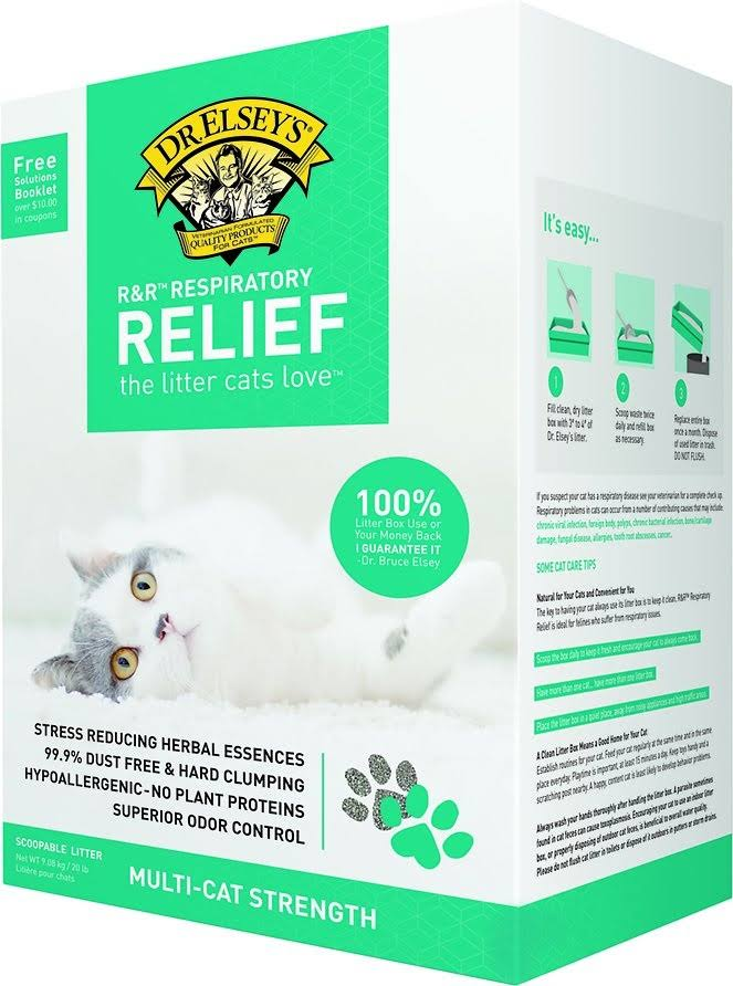 Precious Cat Respiratory Relief Clay Premium All Natural Cat Litter with Herbal Essences - 20lb
