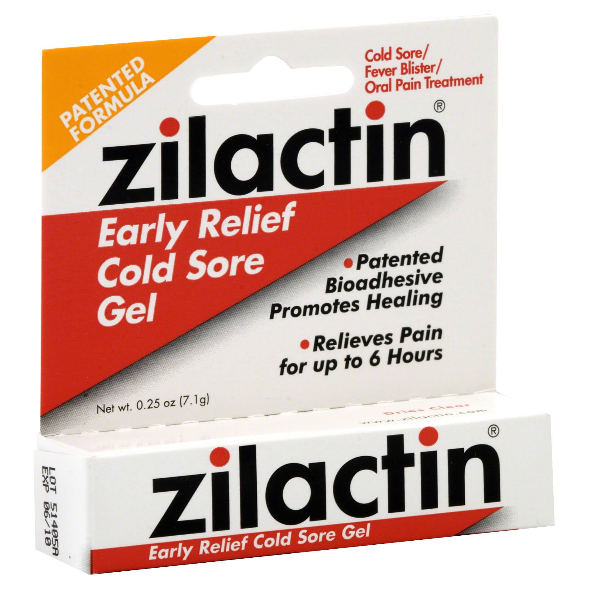 Zilactin Cold Sore Gel - 0.25oz