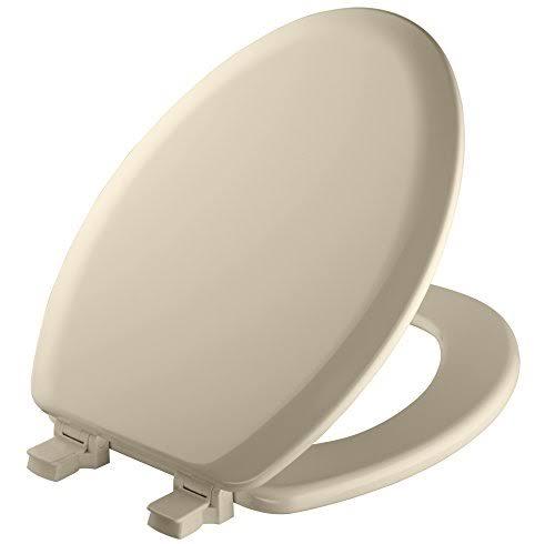 Mayfair Elongated Molded Wood Toilet Seat - Bone