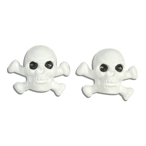 Trick Top Valve Caps Skull/Bone White