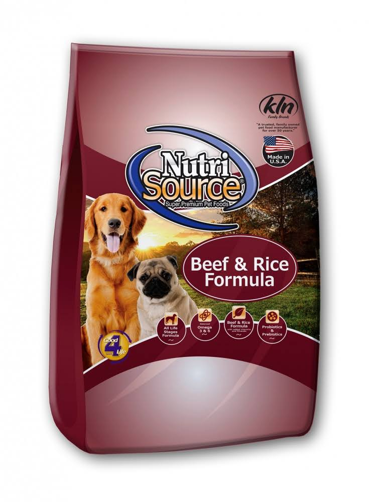 NutriSource Beef & Rice Dog Food 15 lb