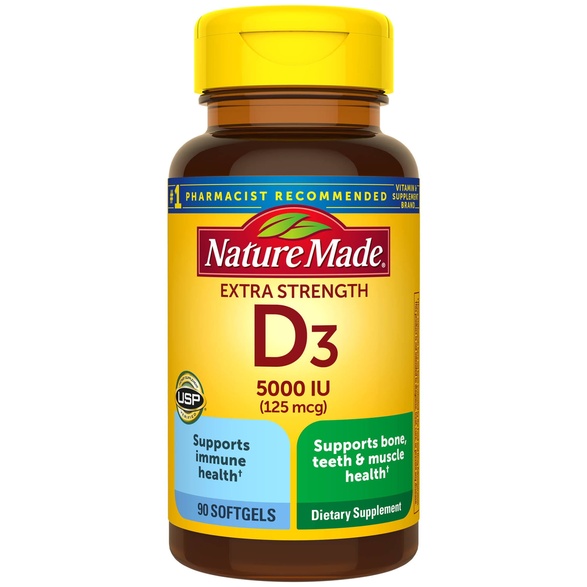 Nature Made Vitamin D3 Dietary Supplement - 90ct