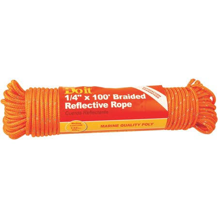 "Do It Best Braided Reflective Polypropylene Rope - 1/4""x100'"