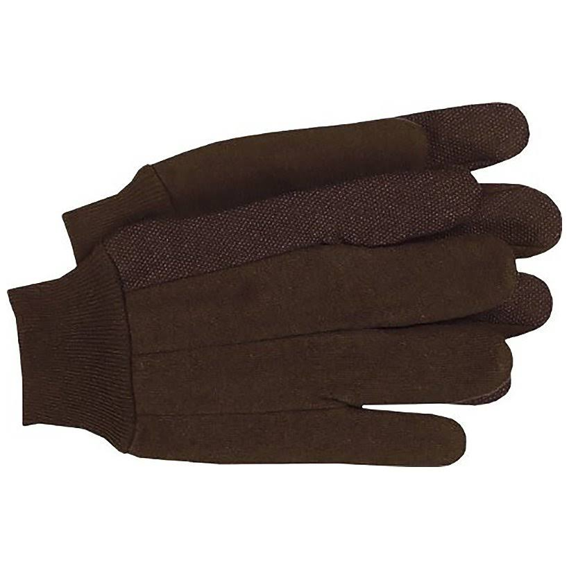 Boss Manufacturing 7798929 Mens Indoor & Outdoor Jersey Dotted Palm Work Gloves Brown - Extra Large