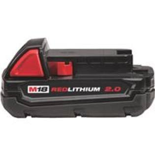 Milwaukee 48111820 M18 Red Lithium 2.0 Compact Battery Pack - 18V