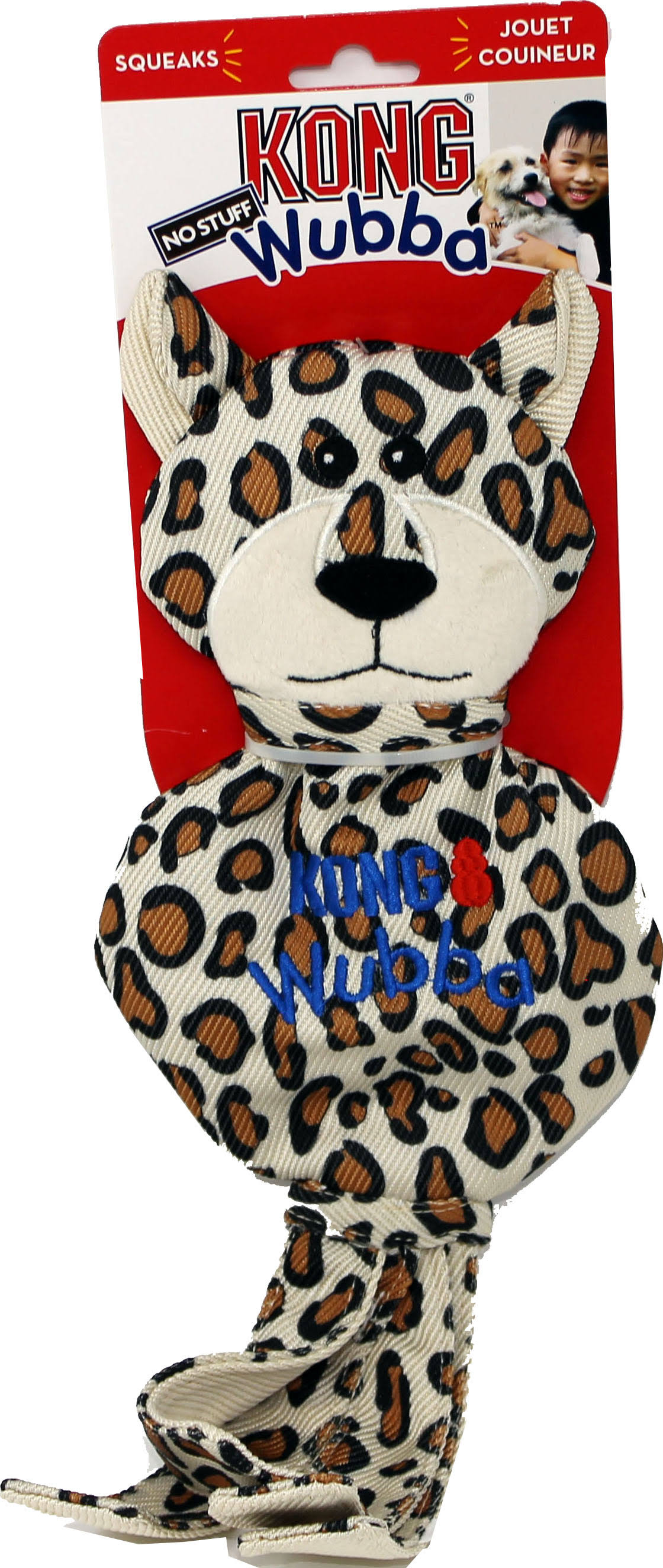 Kong - Wubba No Stuff Cheetah - Large