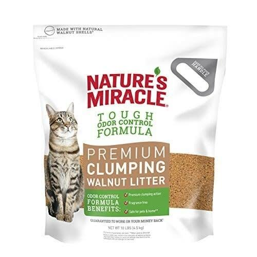 Nature's Miracle premium Walnut Clumping Litte - 10lbs