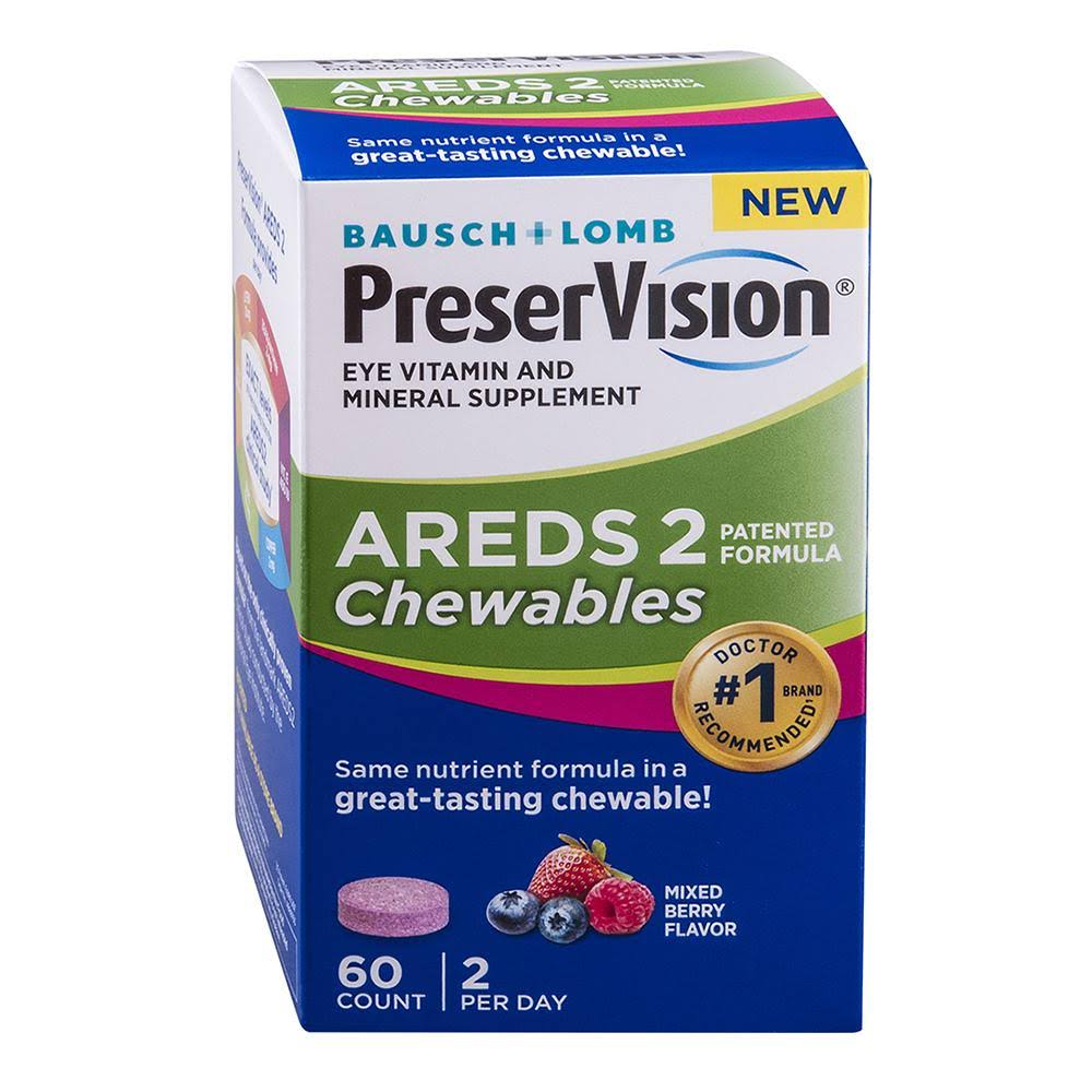PreserVision AREDS 2 Formula Chewables, 60ct