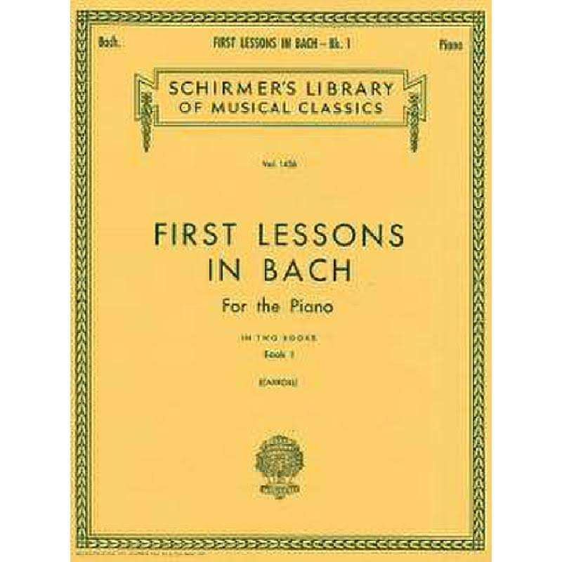 First Lessons in Bach Book 1: Piano Solo - Hal Leonard