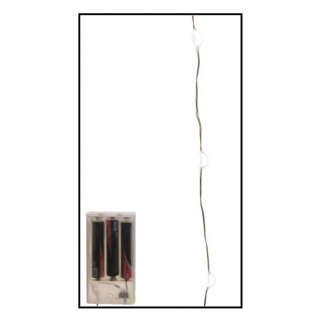 Celebrations 9466640 20 ft. LED Micro Wire Light Set Warm White - 120