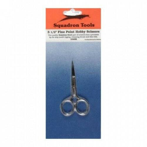 Squadron Products Fine Point Hobby Scissors - 3 1/2""