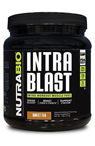 NutraBio Intra Blast Intra Workout Muscle Fuel - Sweet Tea, 1.89lb