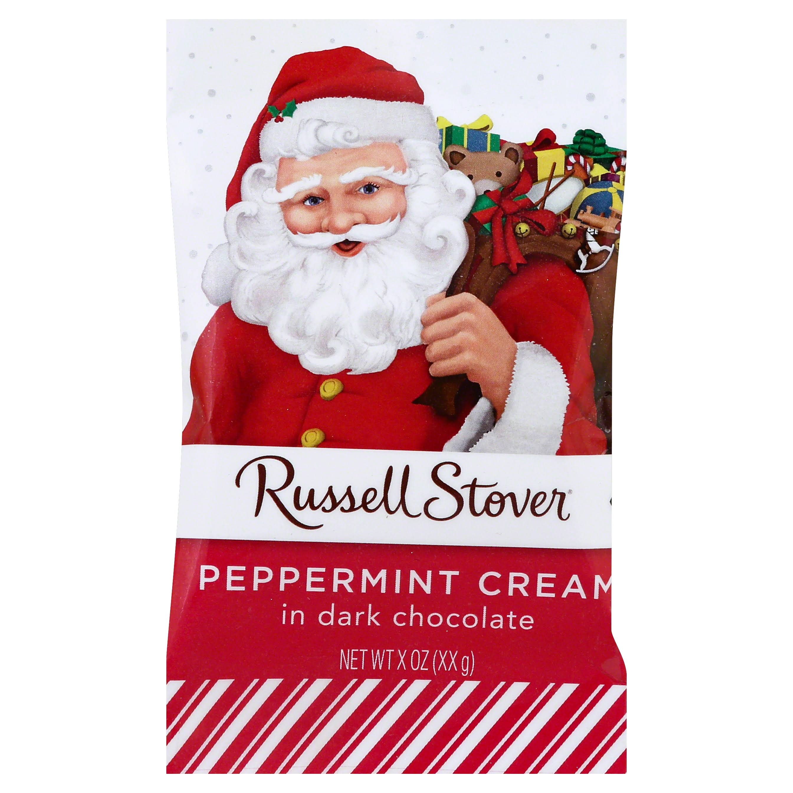 Russell Stover Peppermint Cream, in Dark Chocolate