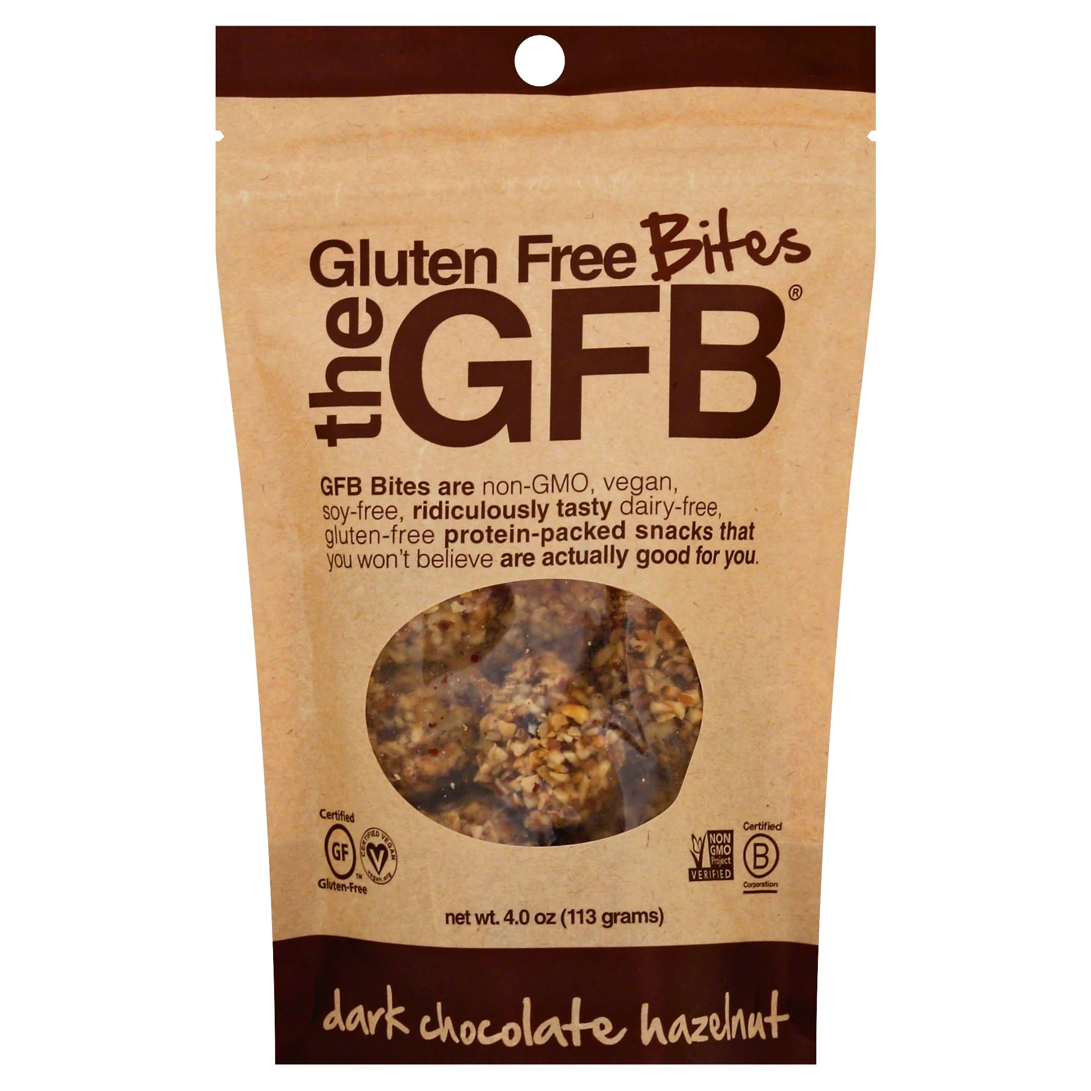 The Gluten Bar Bites - Dark Chocolate Hazelnut, 4oz