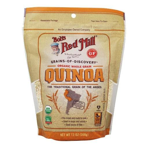 Bobs Red Mill Quinoa, Organic, Whole Grain - 13 oz