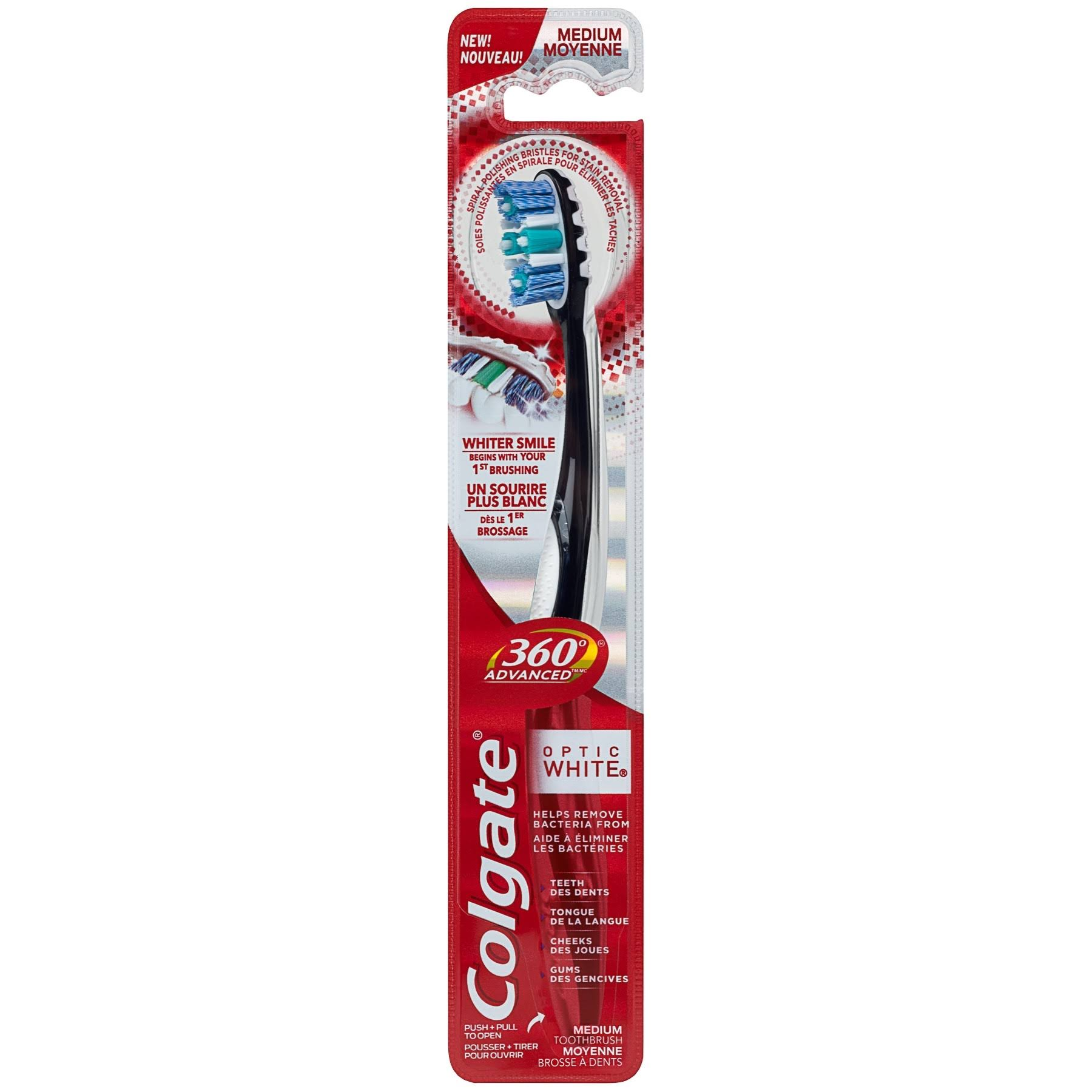 Colgate 360 Advanced Optic White Toothbrush - Medium