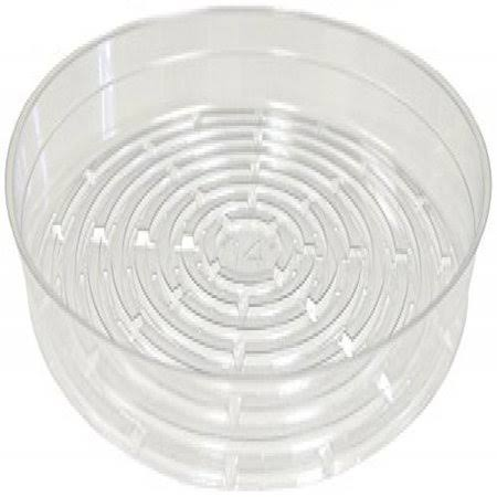 "Curtis Wagner Vinyl Saucer - 14""Dia, Clear"