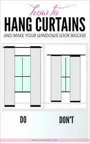 No Drill Window Curtain Rod by How To Hang Curtains To Make Any Window Look Bigger Great Tips In