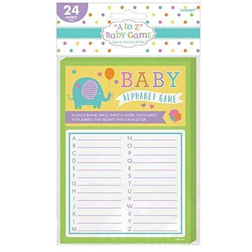 Amscan Baby Shower Alphabet Game - 12pk