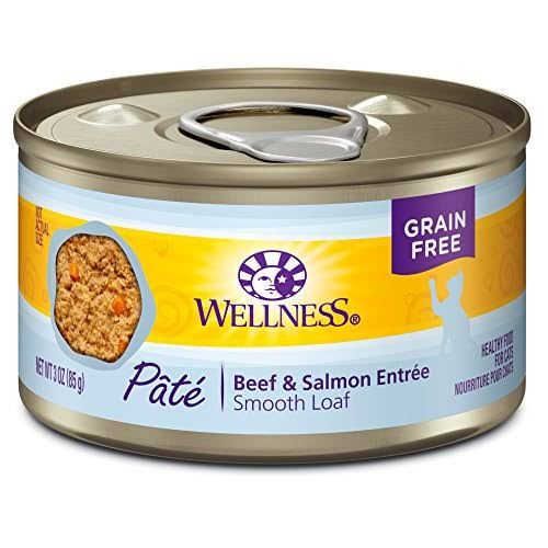 Wellness Complete Health Natural Grain Wet Canned Cat Food - Beef & Salmon