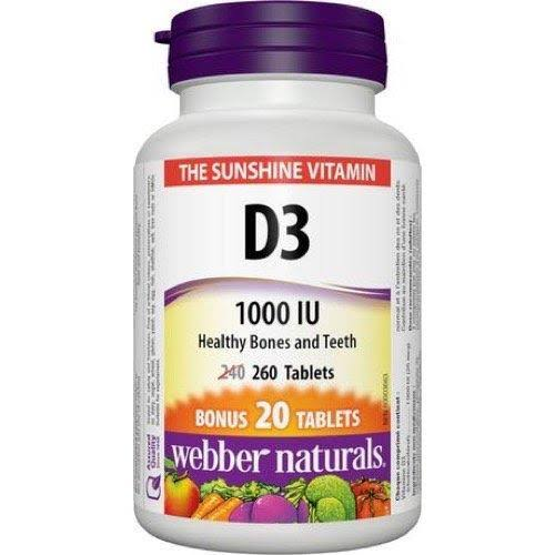 Webber Naturals Vitamin D3 Supplement - 1000 IU, 20ct