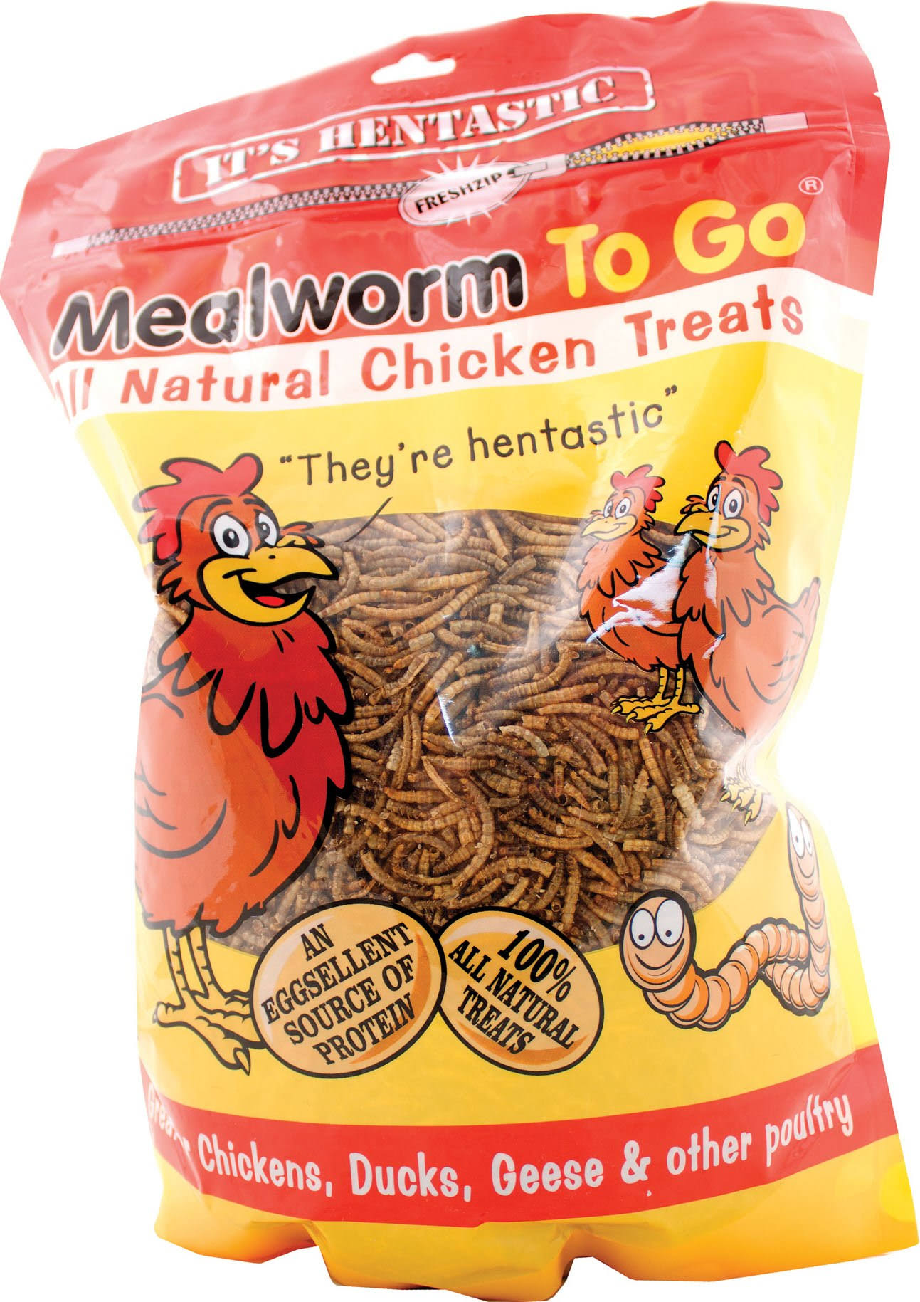 Unipet Hentastic Mealworm to Go Chicken Treats 1.1 Pound