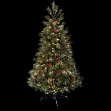 Artificial Christmas Tree 6ft by 6ft 183cm Green Decorated Prelit Artificial Festive Christmas