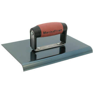 "Marshalltown 163BD Straight End Blue Steel Hand Edger - 6"" X 6"""