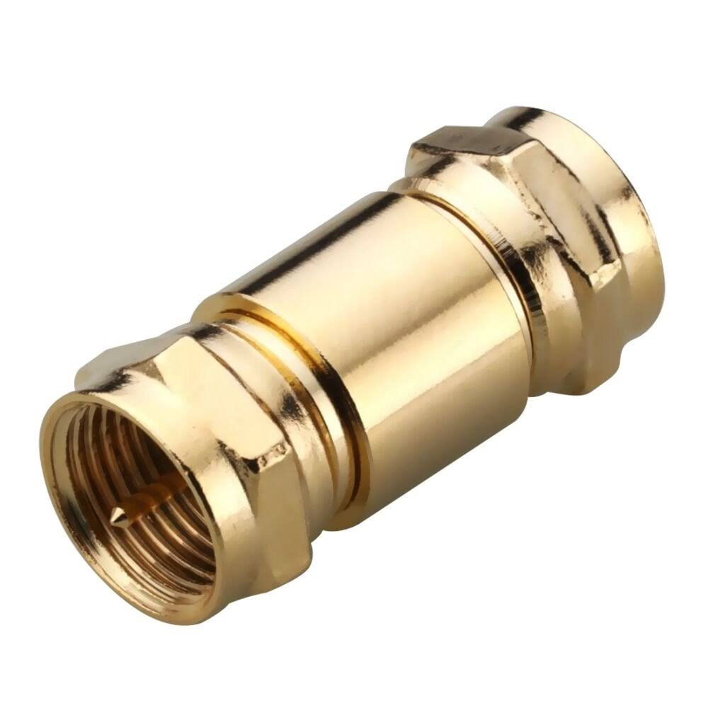 Radioshack 278-275 Male-to-Male F Connector Adapter - Gold Plated