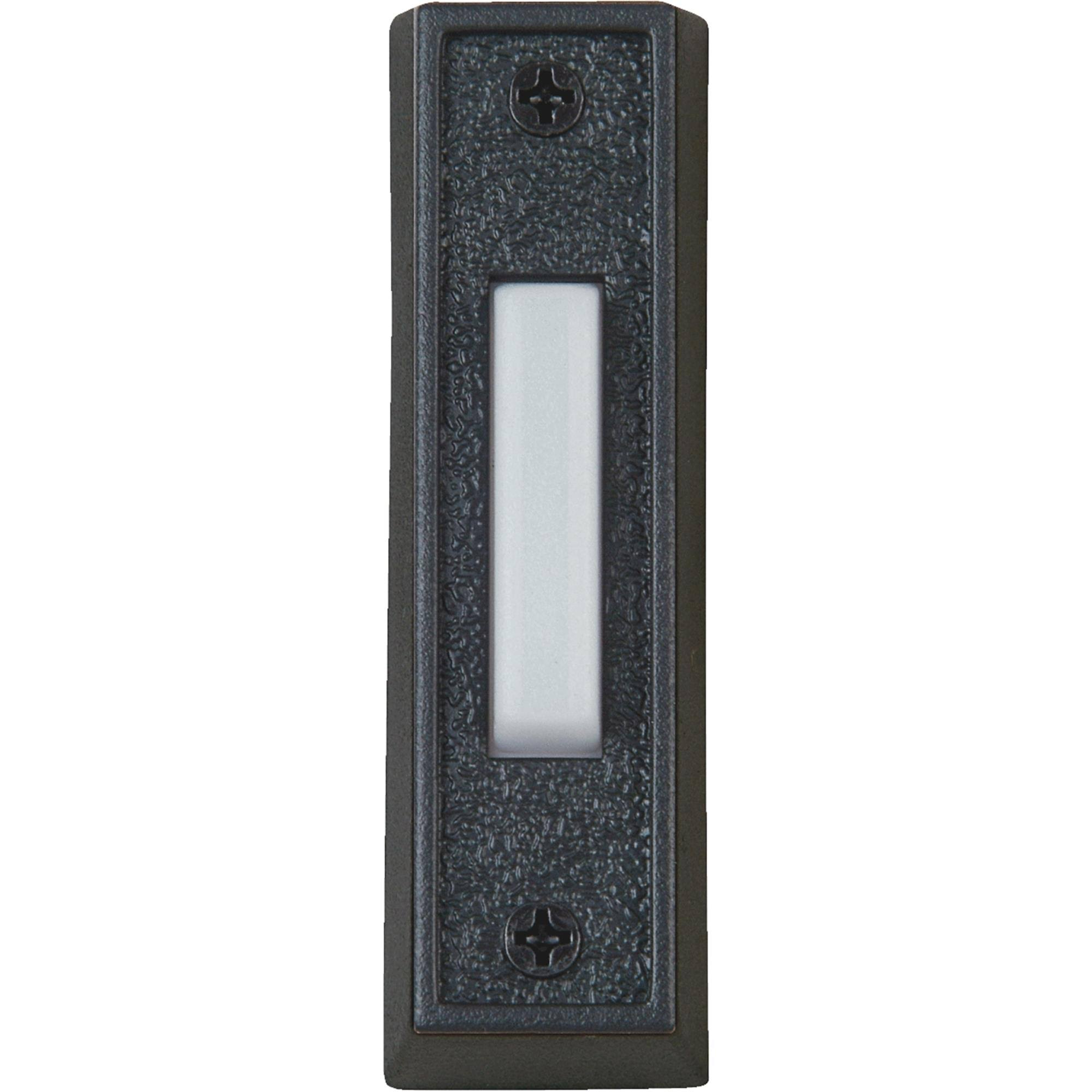 IQ America Wired Lighted Doorbell Push Button - Black and White