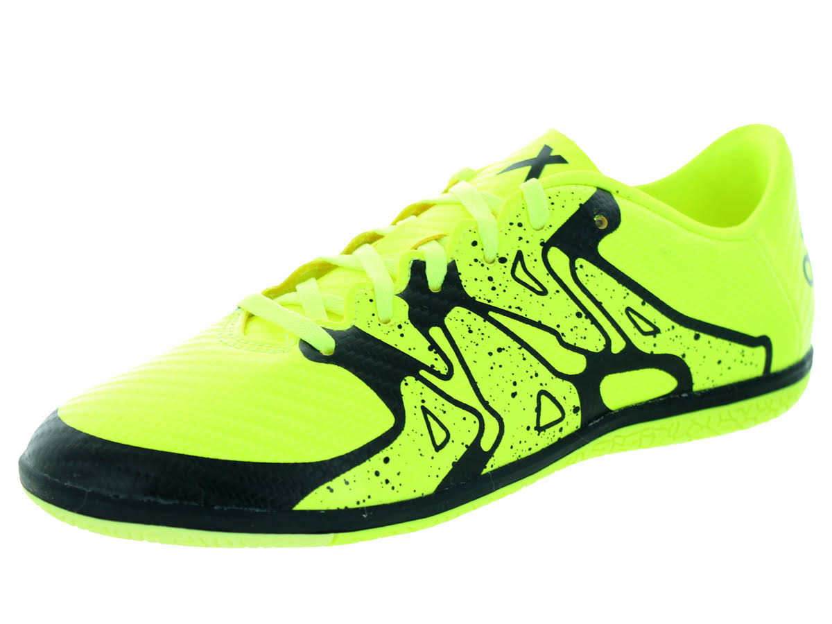 Adidas Kids x 15.3 in J Indoor Soccer Shoe syellow/syello/cblack
