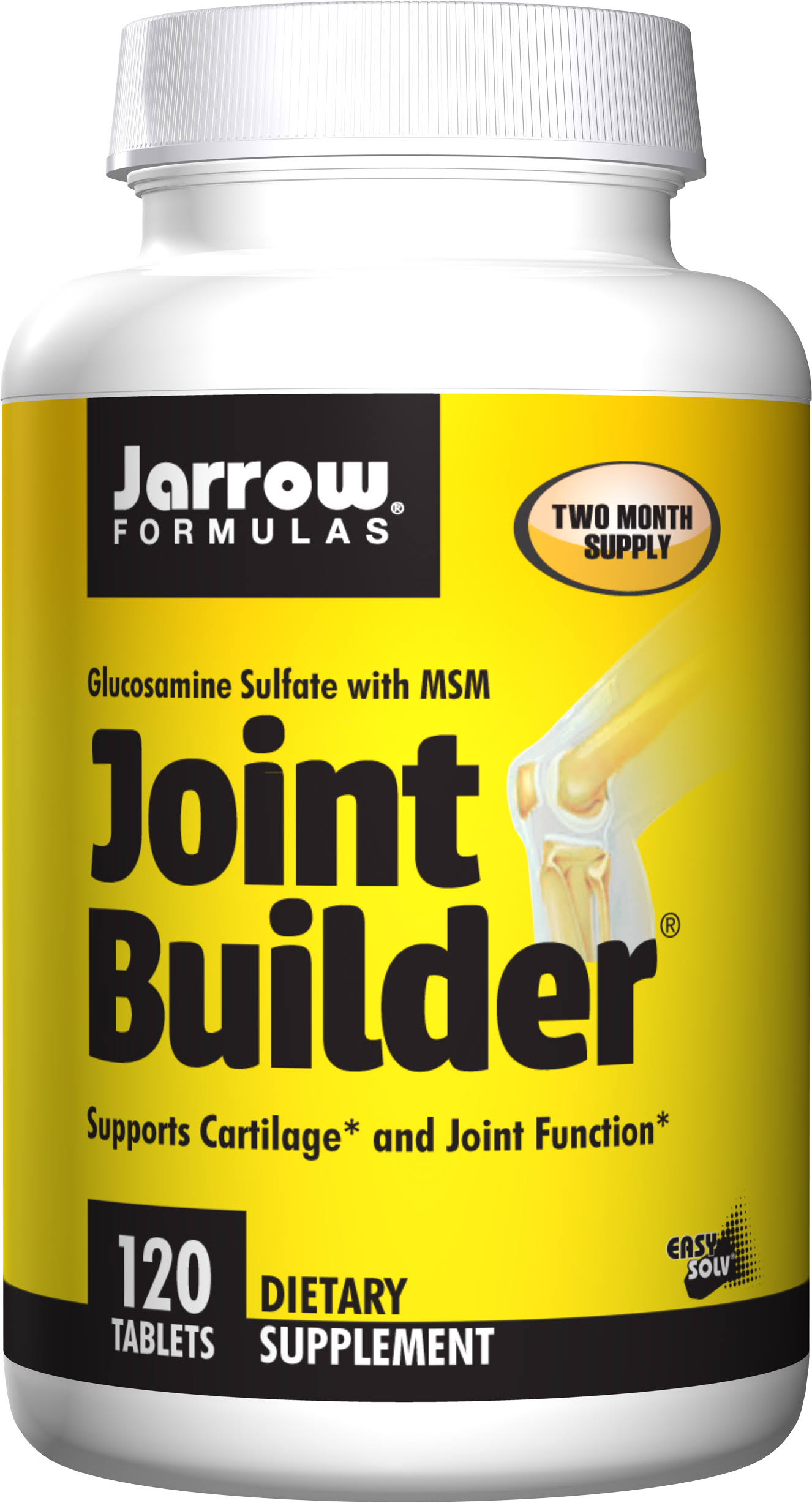 Jarrow Formulas Glucosamine Sulfate with MSM Joint Builder - 750mg, 120 Tablets