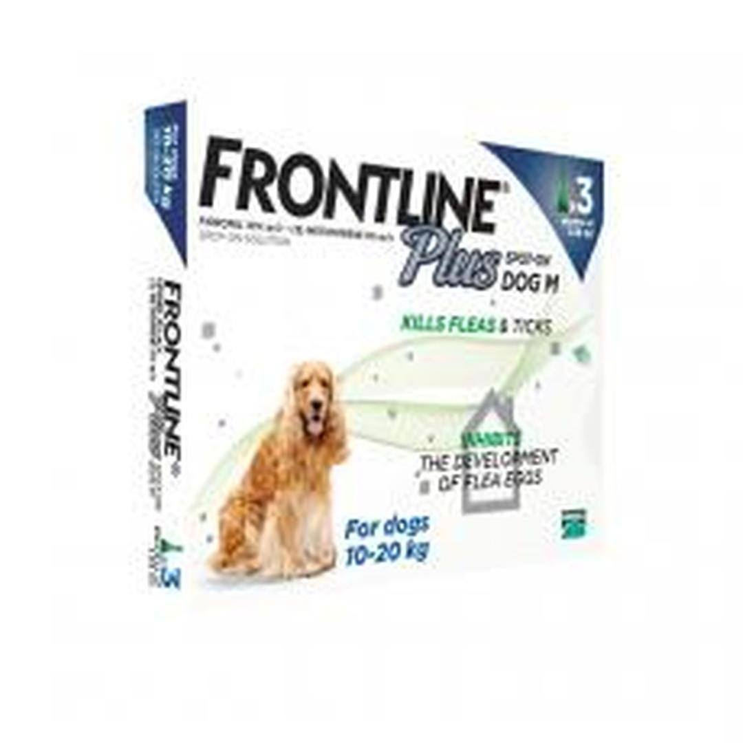 Frontline Plus Spot-On Medium Dog - 10-20kg, 3pk