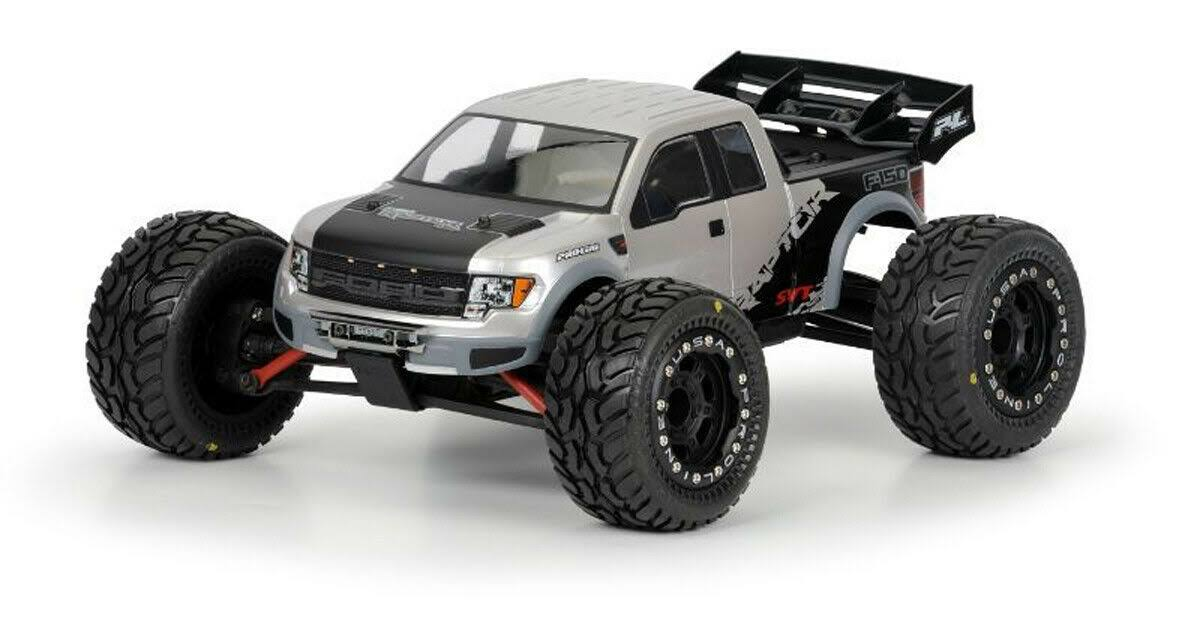 Pro-Line Racing 336000 Ford F-150 SVT Raptor Clear Body Car Model Kit - 1:16 Revo