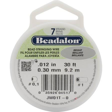 Beadalon 7-Strand Stringing Wire - .30mm Dia, 30'