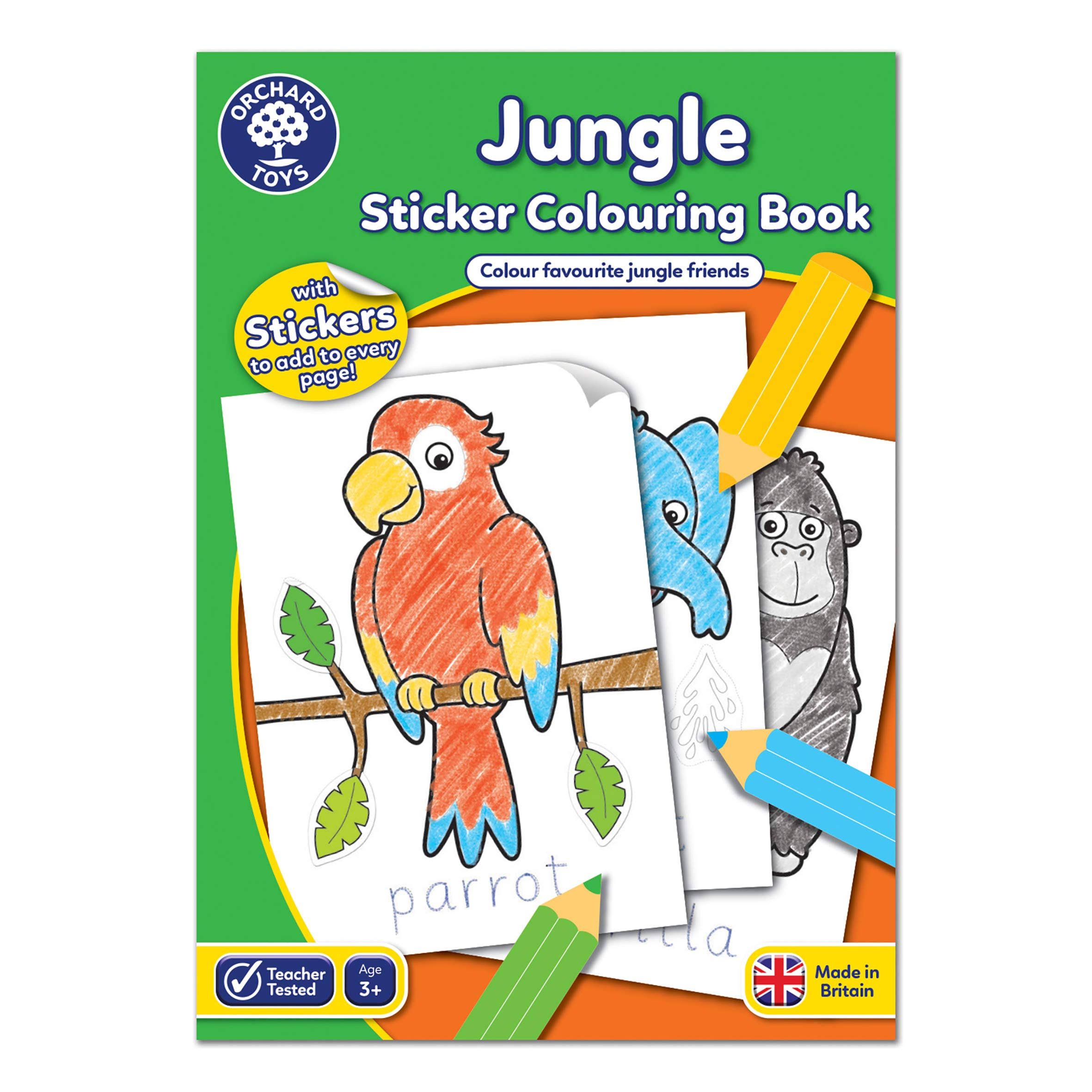 Orchard Toys Jungle Sticker Colouring Book