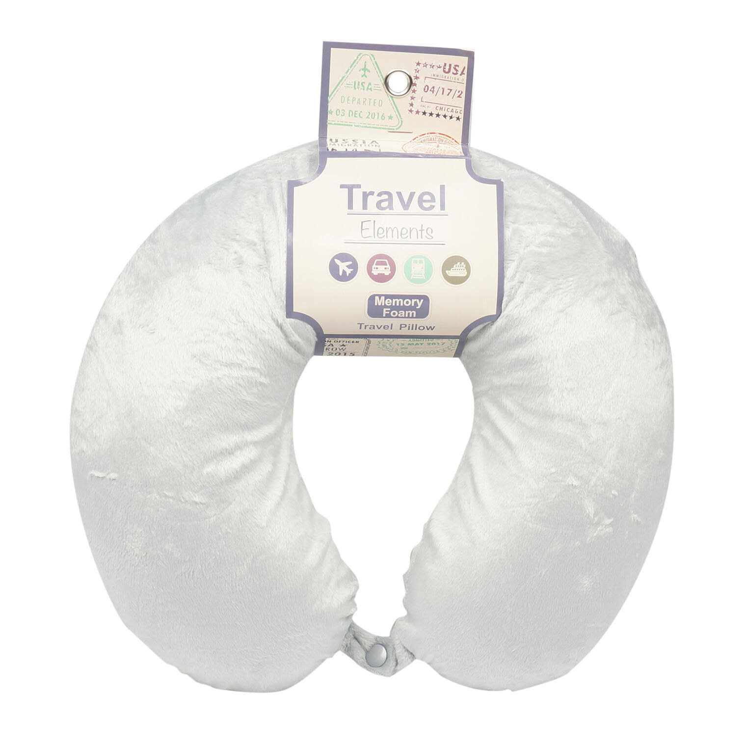 Travel Pillow Memory Foam Grey Wholesale, Cheap, Discount, Bulk